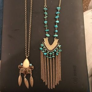 Lot of 2 Altar'd State necklaces